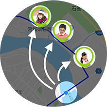 Sharing location information with friends